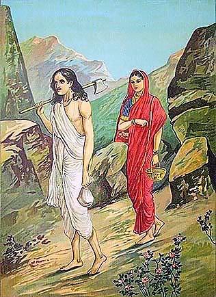 Савитри смотрит на Сатьявана